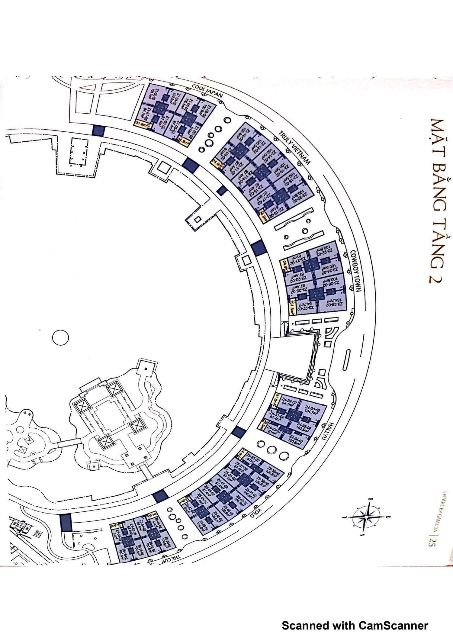 Mặt bằng tầng 2 Nhà phố Leparc Gamuda