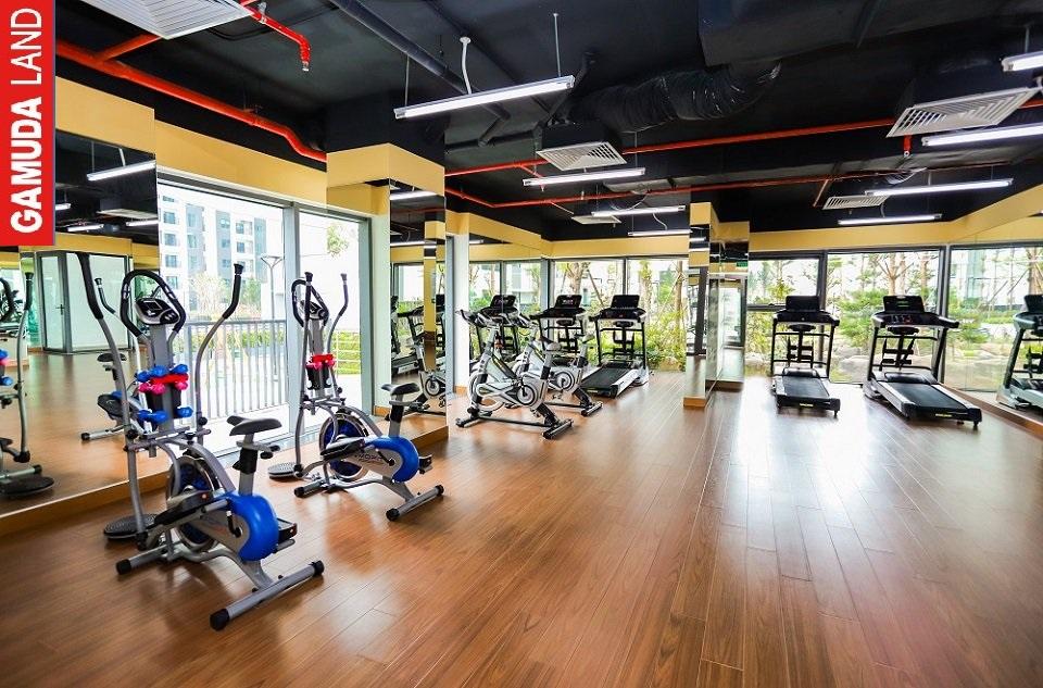 Tập Gym tại tầng 5 the zen residence