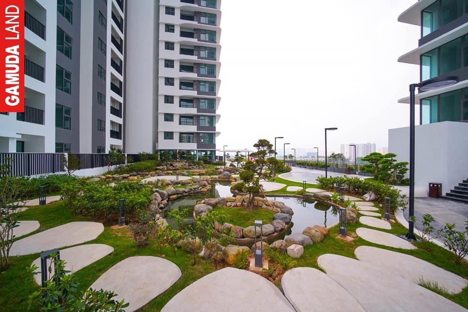 sân vườn tầng 5 tòa the zen residence gamuda