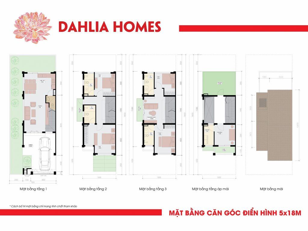 căn góc 5x18 liền kè gamuda hoàng mai St5 dhlia Homes