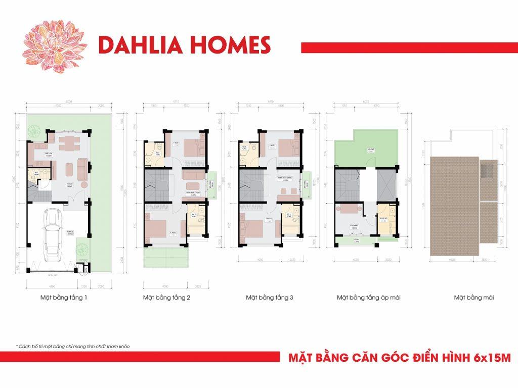 căn góc 6x15 liền kè gamuda hoàng mai St5 dhlia Homes