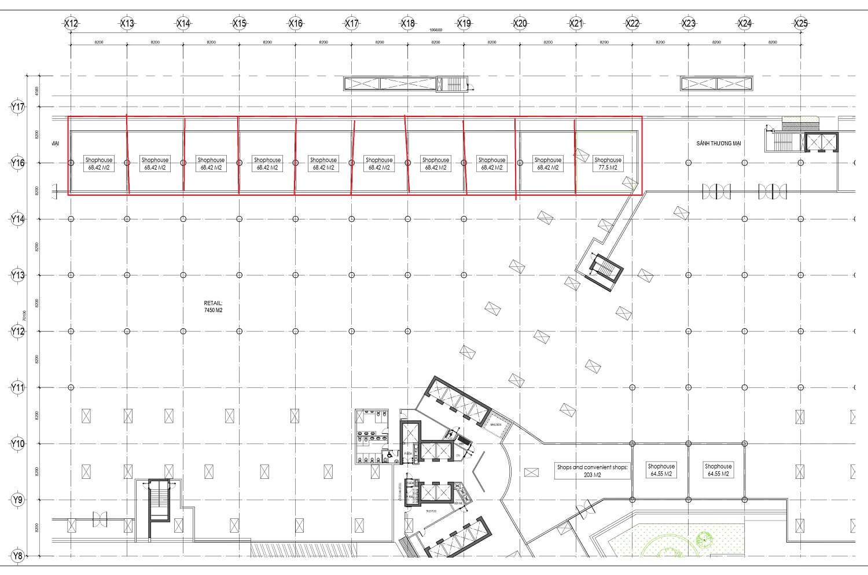 shophouse thương mại dự án central residence gamuda